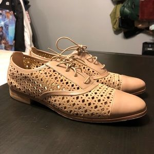Michael Kors Laser Cut Suede and Leather Oxfords